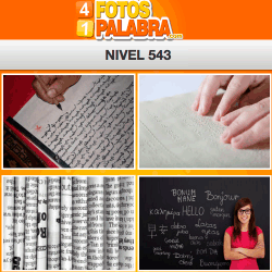 4 fotos 1 palabra facebook nivel 543