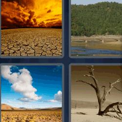 4 fotos 1 palabra tierra partida