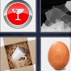 4 fotos 1 palabra huevo roto