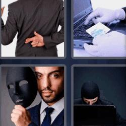 4 fotos 1 palabra hombre cruzando los dedos