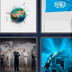 4 fotos 1 palabra bola del mundo