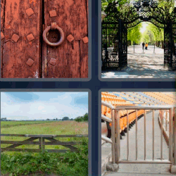 4 fotos 1 palabra puertas