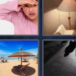 4 fotos 1 palabra sombrilla