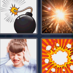 4 fotos 1 palabra dibujo bomba