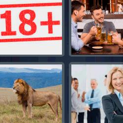 4 fotos 1 palabra león