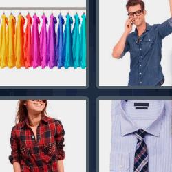 4 fotos 1 palabra ropa de colores