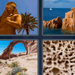 4 fotos 1 palabra estatua egipcia
