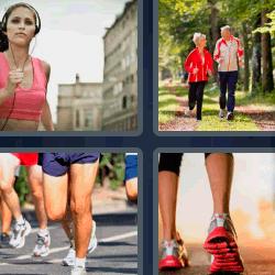 4 fotos 1 palabra pareja corriendo