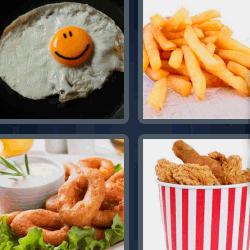4 fotos 1 palabra huevo frito