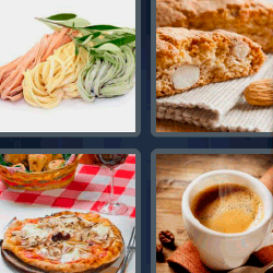 4 fotos 1 palabra espaguetis de colores