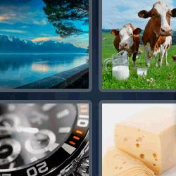 4 fotos 1 palabra queso