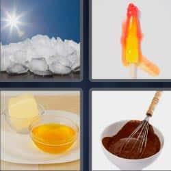 4 fotos 1 palabra cubitos de hielo