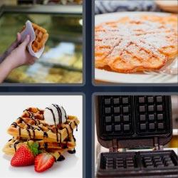 4 fotos 1 palabra waffles