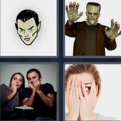 4 fotos 1 palabra vampiro