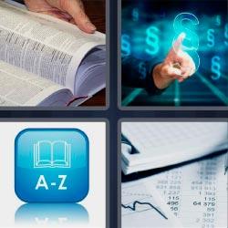 4 fotos 1 palabra leyendo libro
