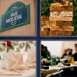 4 fotos 1 palabra Rue Moliere