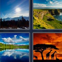4 fotos 1 palabra naturaleza