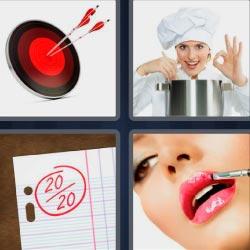 4 fotos 1 palabra diana flecha