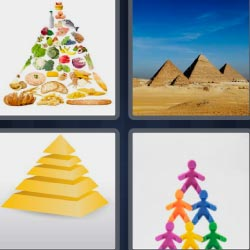 4 fotos 1 palabra piramides egipcias