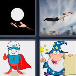 4 fotos 1 palabra hombre volando