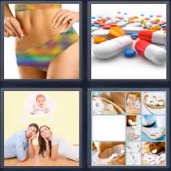 4 fotos 1 palabra píldora