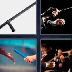 4 fotos 1 palabra director de orquesta músicos