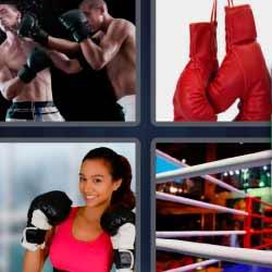 4 fotos 1 palabra guantes boxeo