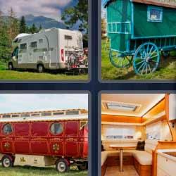 4 fotos 1 palabra carruaje carreta autocaravana