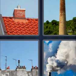 4 fotos 1 palabra tejado humo