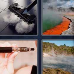 4 fotos 1 palabra aspiradora paisaje con niebla