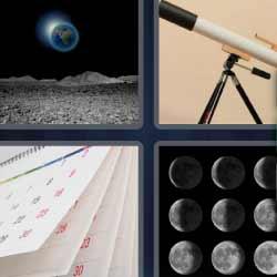 4 fotos 1 palabra telescopio calendario lunas