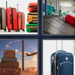 4 fotos 1 palabra equipaje aeropuerto