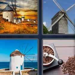 4 fotos 1 palabra molinillo de café