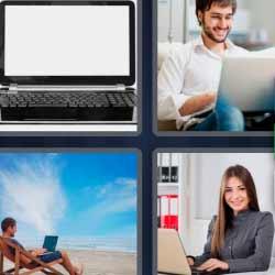 4 fotos 1 palabra ordenador