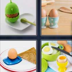 4 fotos 1 palabra huevo cocido