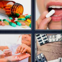 4 fotos 1 palabra 7 letras bote de pastillas
