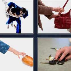 4 fotos 1 palabra robando bolso