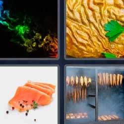4 fotos 1 palabra salmón