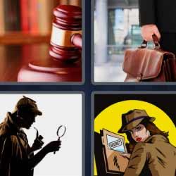 4 fotos 1 palabra martillo de juicio