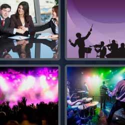 4 fotos 1 palabra fiesta concierto