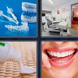 4 fotos 1 palabra dentadura postiza