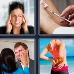 4 fotos 1 palabra dolor de cabeza