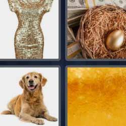 4 fotos 1 palabra huevo de oro