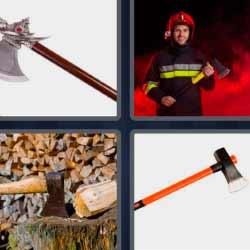 4 fotos 1 palabras bombero