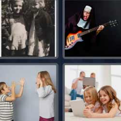 4 fotos 1 palabra niños burlándose