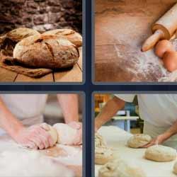 4 fotos 1 palabra harina huevo