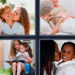 4 fotos 1 palabra madre e hija