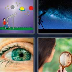 4 fotos 1 palabra telescopio científico
