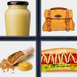 4 fotos 1 palabra hot dog