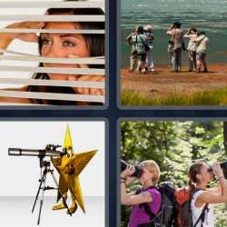 4 fotos 1 palabra prismáticos